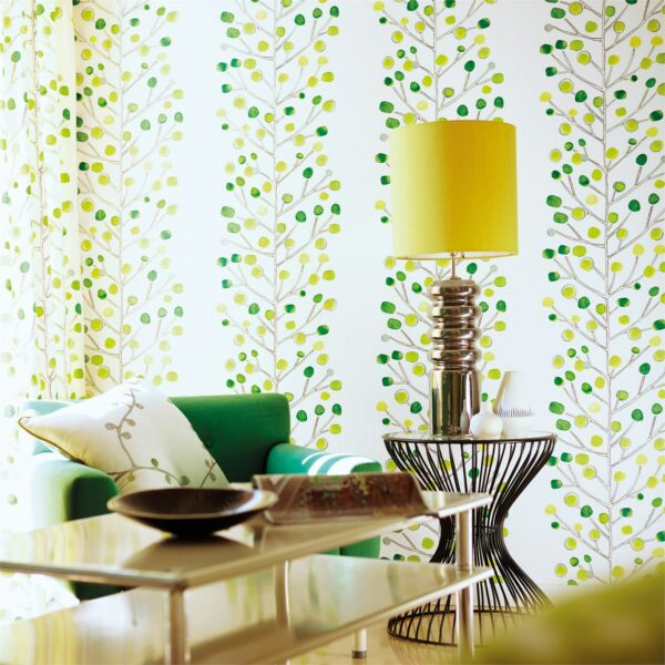 Scion Melinki Berry Tree Wallpaper Living Room