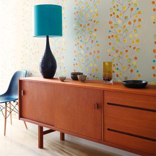 Scion Melinki Berry Tree Wallpaper End Table