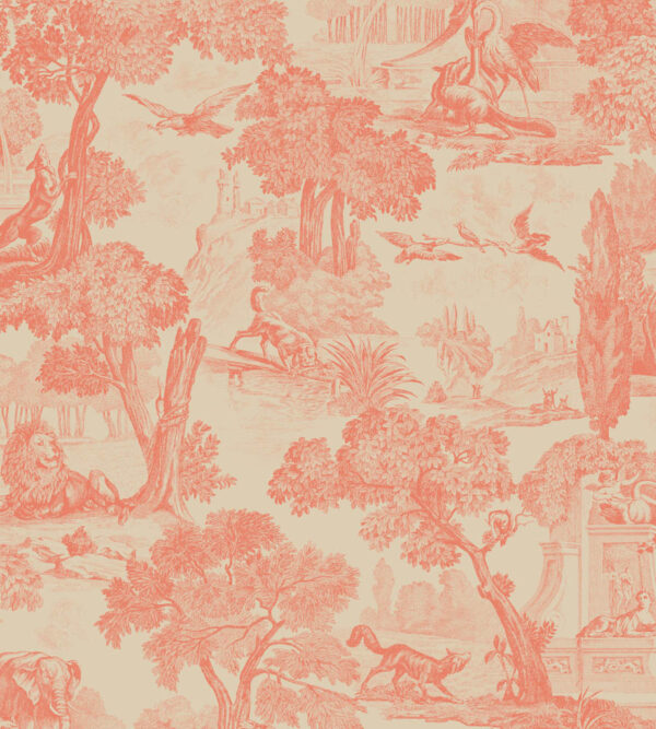 Cole & Son Versailles Coral Wallpaper
