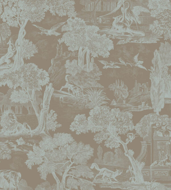 Cole & Son Versailles Teal Wallpaper