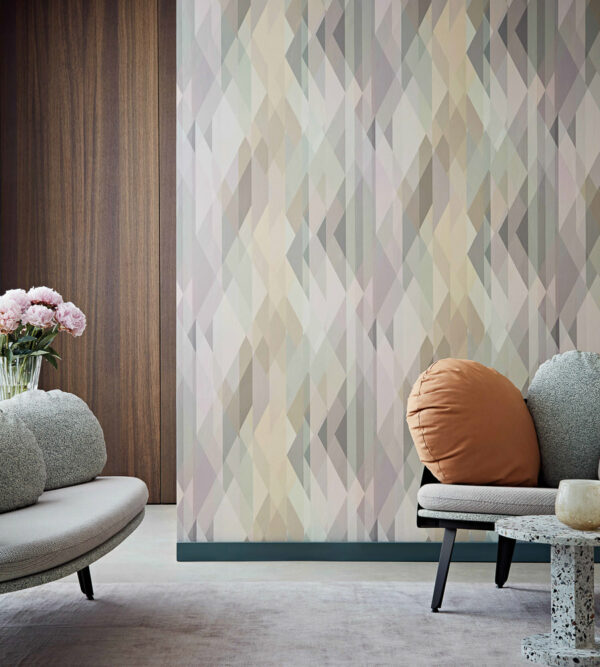 Cole & Son Prism Wallpaper Living Room