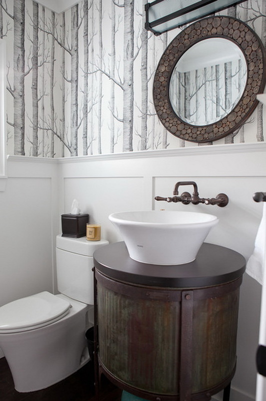 Cole & Son - Woods Wallpaper - Bath room - Toilet