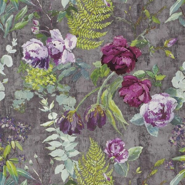 Designers Guild Flowers Wallpaper Tulipani Amethyst