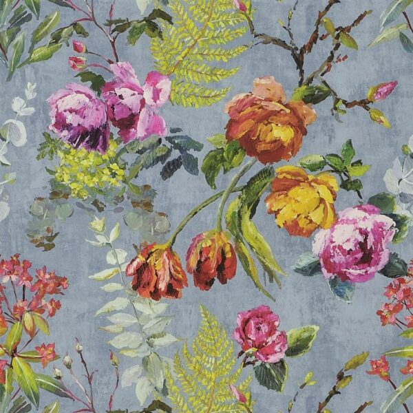 Designers Guild Flowers Wallpaper Tulipani Graphite