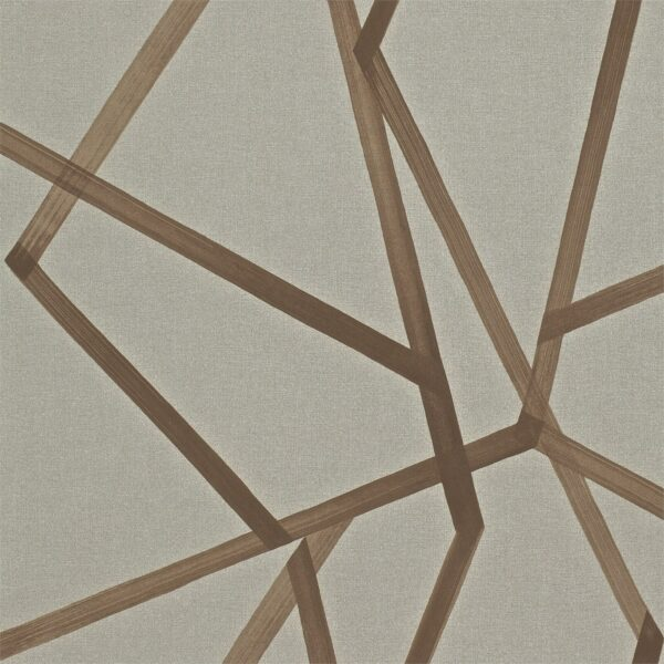 Harlequin Sumi Wallpaper Hessian & Copper