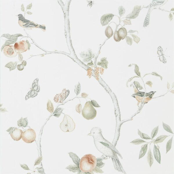 Sanderson Art of the Garden Fruit Aviary Wallpaper Ivory
