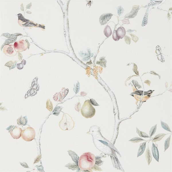 Sanderson Art of the Garden Fruit Aviary Wallpaper Cream