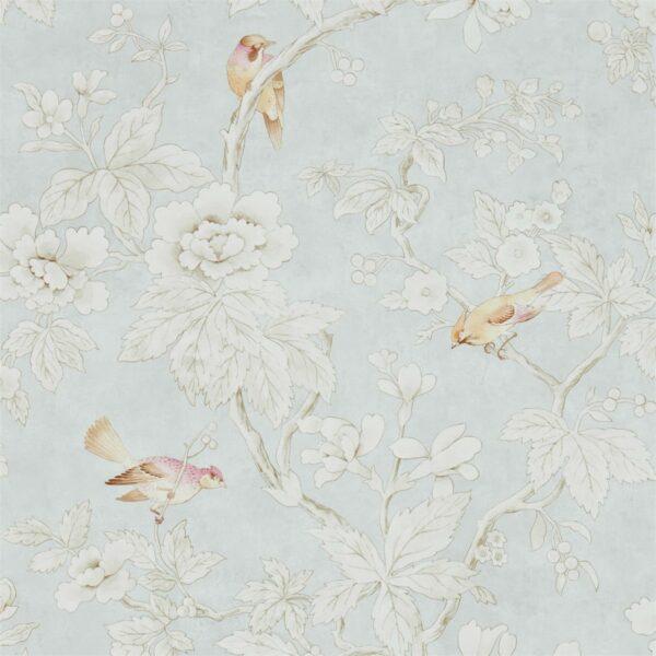 Sanderson Chiswick Grove Wallpaper Silver