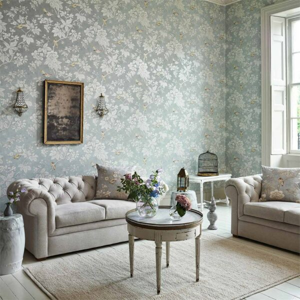 Sanderson Chiswick Grove Wallpaper Living Room