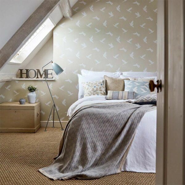 Sanderson Potting Room Paper Doves Wallpaper bedroom
