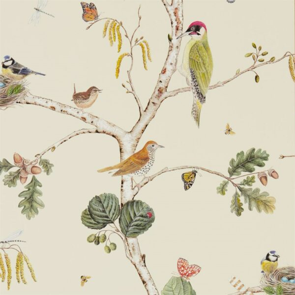 Sanderson Woodland Walk Woodland Chorus Wallpaper Cream