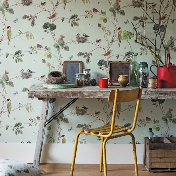 Sanderson Woodland Walk Woodland Chorus Wallpapers Desk