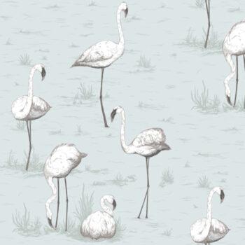 Cole & Son Flamingos Soft Blue 95-8047