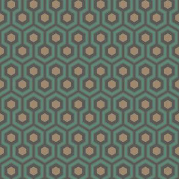 Cole & Son Hicks Hexagon Green-Bronze 95-3018