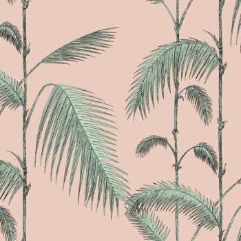 Cole & Son Palm Leaves Alabaster Pink-Mint 112-2005