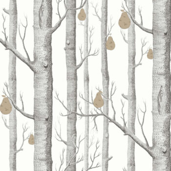 Cole & Son Woods & Pears Black-White 95-5027