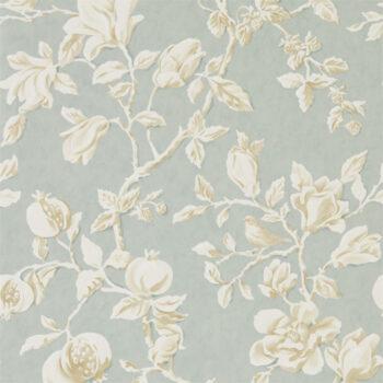 Sanderson Magnolia & Pomegranate Grey-Blue-Parchment 215724